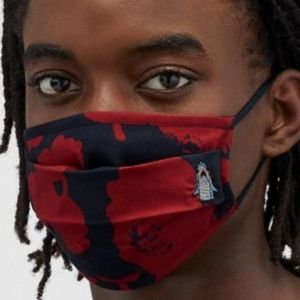 Coach Sharky Flower Camo Print Face Mask